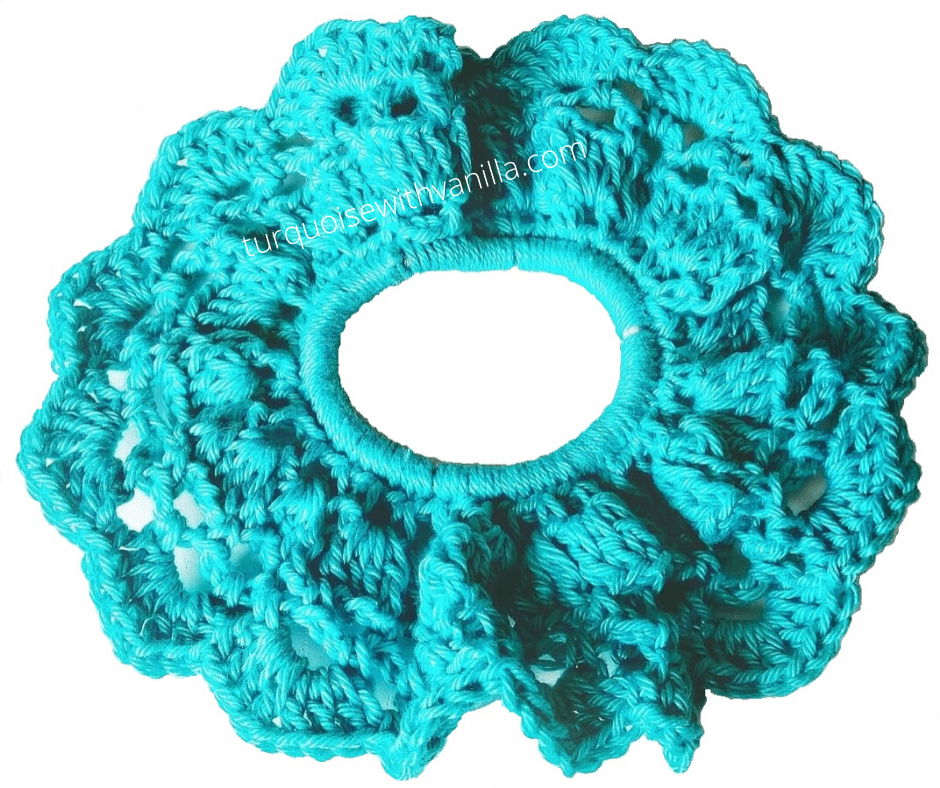 Reach results on Google's SERP when searching for crochet scrunchie