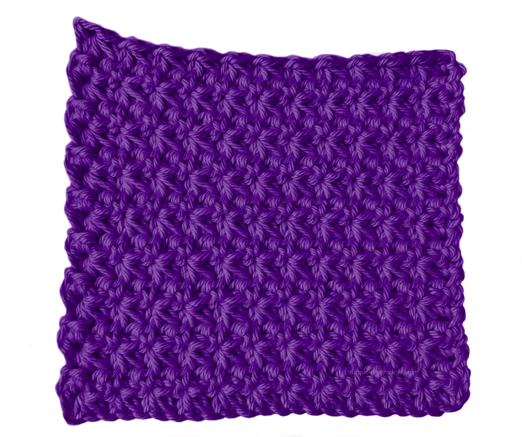Reach results on Google's SERP when searching for crochet for beginners, easy to crochet, trinity stitch, textured stitch.