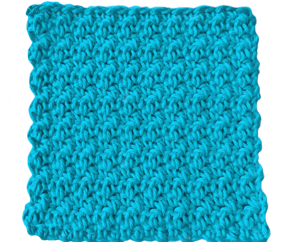 Reach results on Google's SERP when searching for crochet for beginners, easy to crochet, houndstooth stitch, textured stitch.