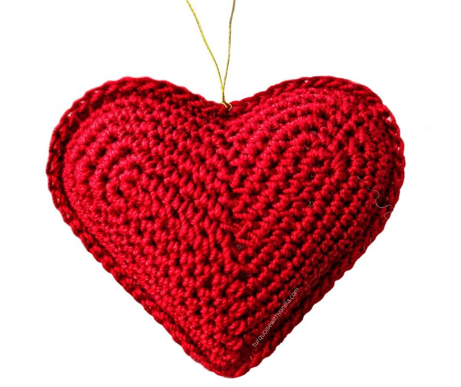 Reach results on Google's SERP when searching for Christmas tree ornaments, crochet Christmas tree ornaments, crochet heart